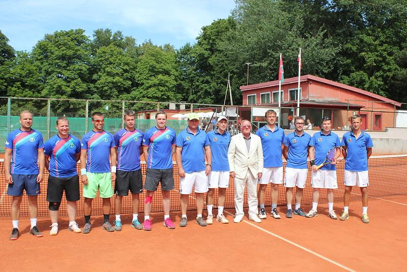 Latvijas Klubu komandu čempionāts, pusfināls 35+ A līga Liepāja - ACB/VL tenisa skola. 23.07.2017.