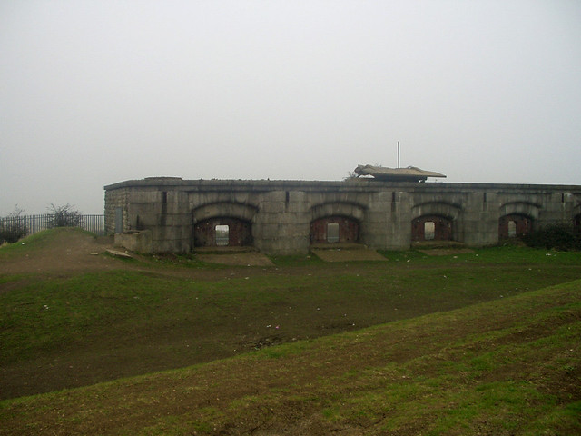 The remains of Shornmead Fort