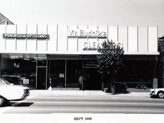 Menlo Park 1968: Santa Cruz Avenue - North Side, front