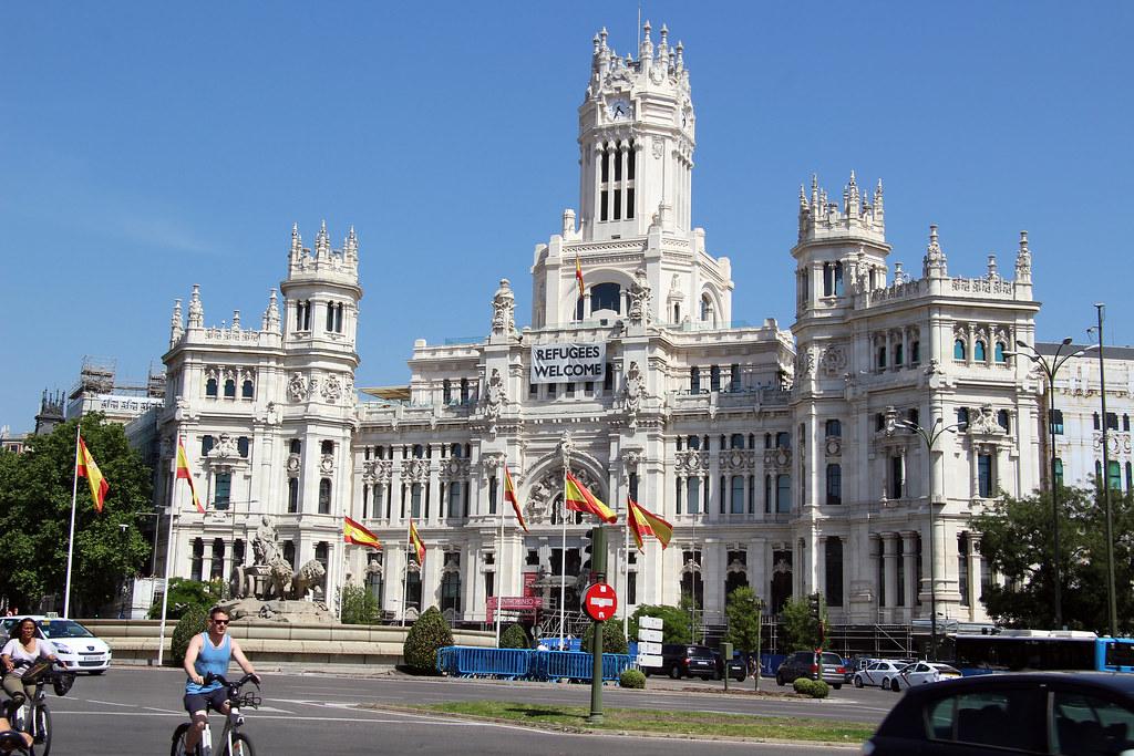 Madrid Palacio De Comunicaciones Retiro Plaza De Cibel