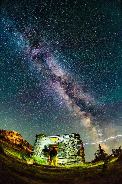 Milky Way over McNeil Point, Mt Hood Wilderness, Oregon