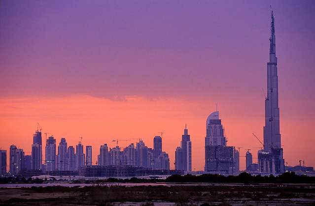 Dubai Skyline Under Construction in 2008