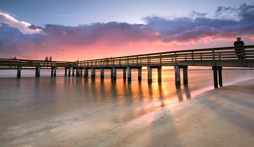 intracoastal waterway indian halifax river ponce inlet smyrna new dunes park volusia county florida usa sunset pier fishing dock jetty long exposure sony a6300 1018mm daytona beach news journal de leon