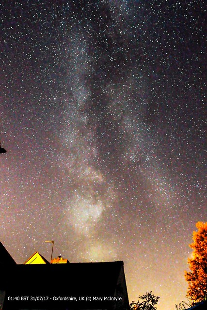 Southern Milky Way from Oxfordshire 01:40 BST 31/07/17