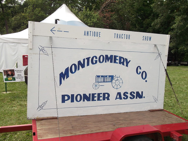 Montgomery County Pioneer Association sign