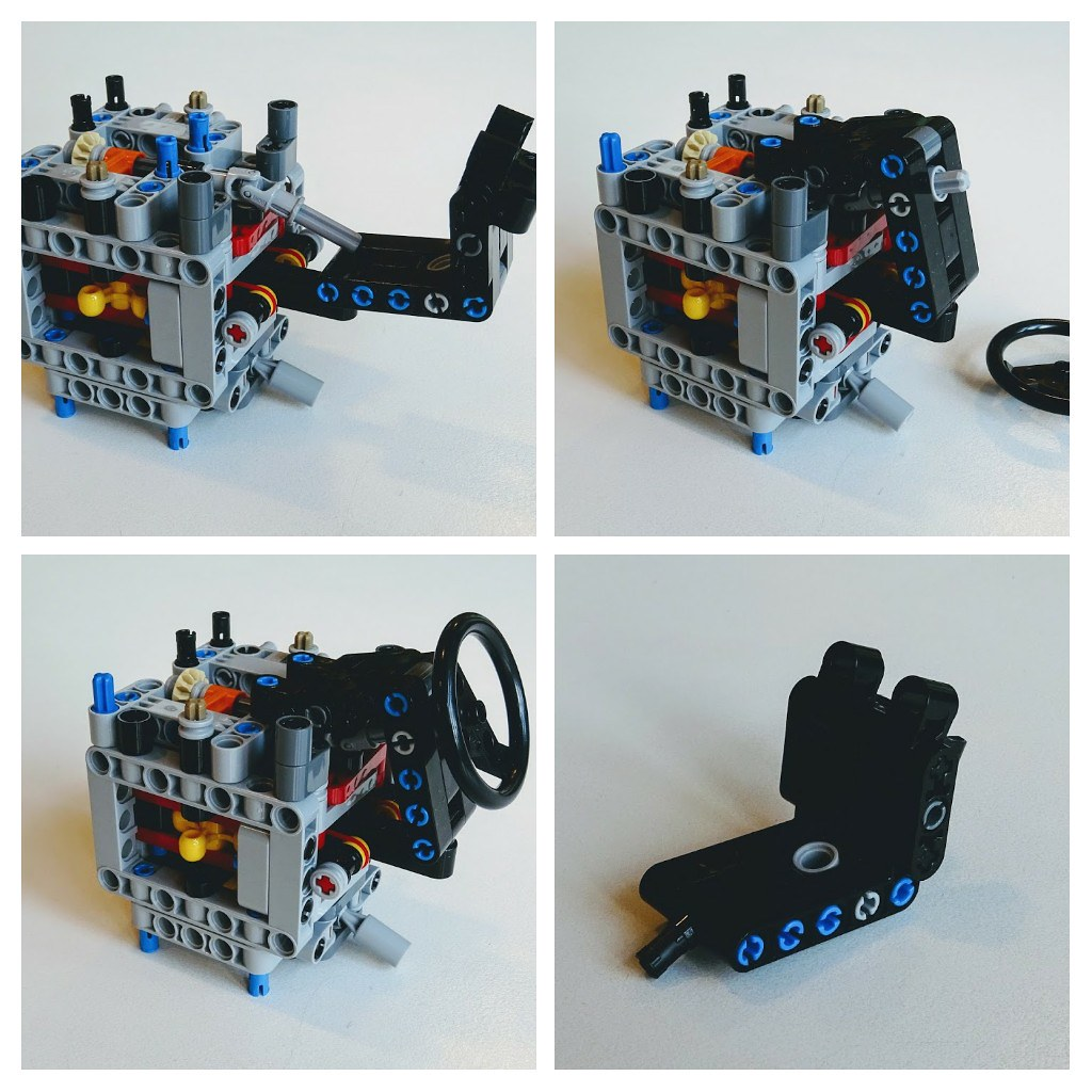 Lego Moc Alternative Paddle Shifter Angled Steering Whee Flickr