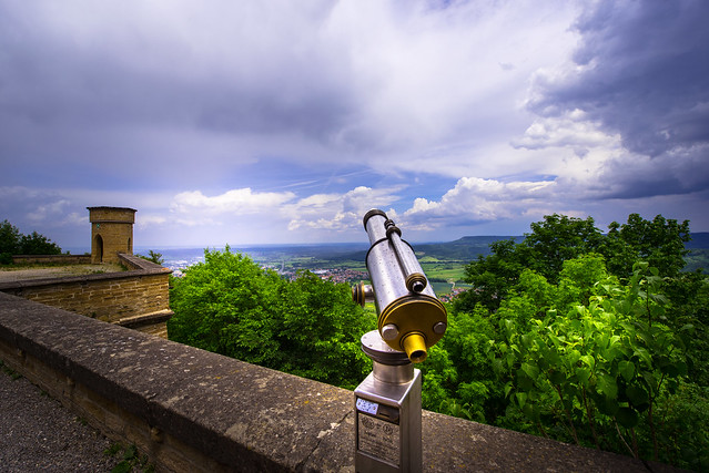 View for 1€ from Castle Hohenzollern - Germany