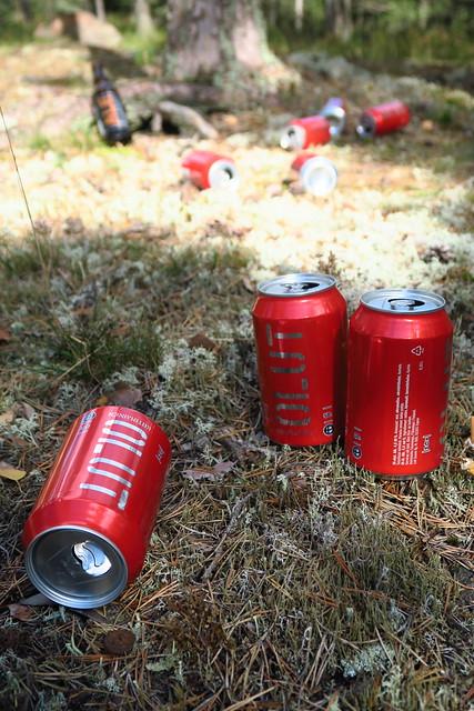 Empty Beer Cans & Bottles