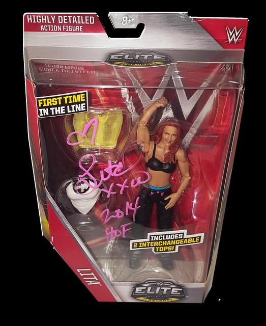 Lita Autographed Mattel WWE ELITE COLLECTION FLASHBACK Series 41 Figure
