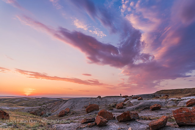 Sunset at Red Rock Coulee