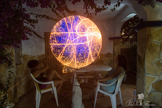 PLANETA A LA VISTA.LIGHTPAINTING.PLANET IN THE SIGHT. NEW WORLD