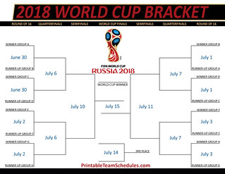photo regarding World Cup Schedule Printable called 2018 FIFA International Cup Bracket Printable 2018 FIFA World wide Cup