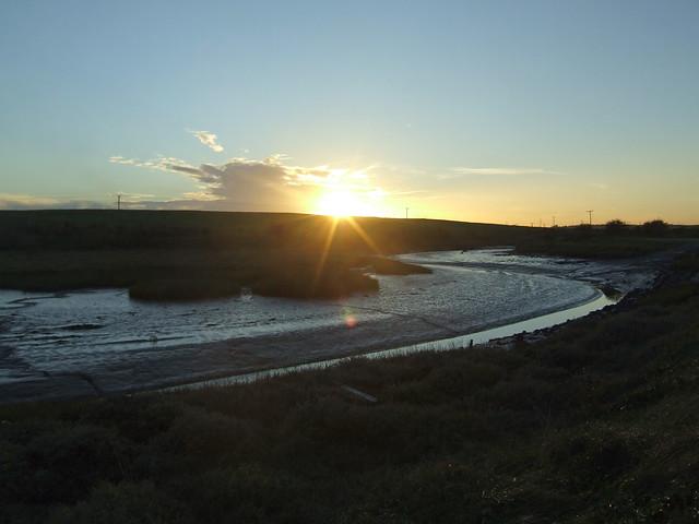 Sunset over Mucking Creek
