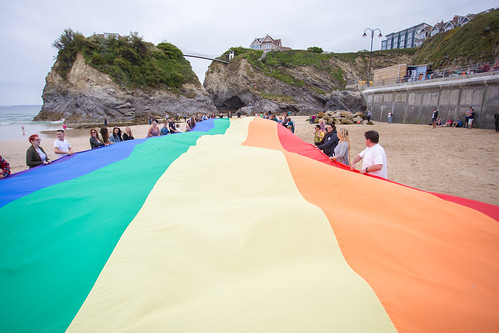 Flying the Flag on Towan Beach   by Cornwall Pride **Official**