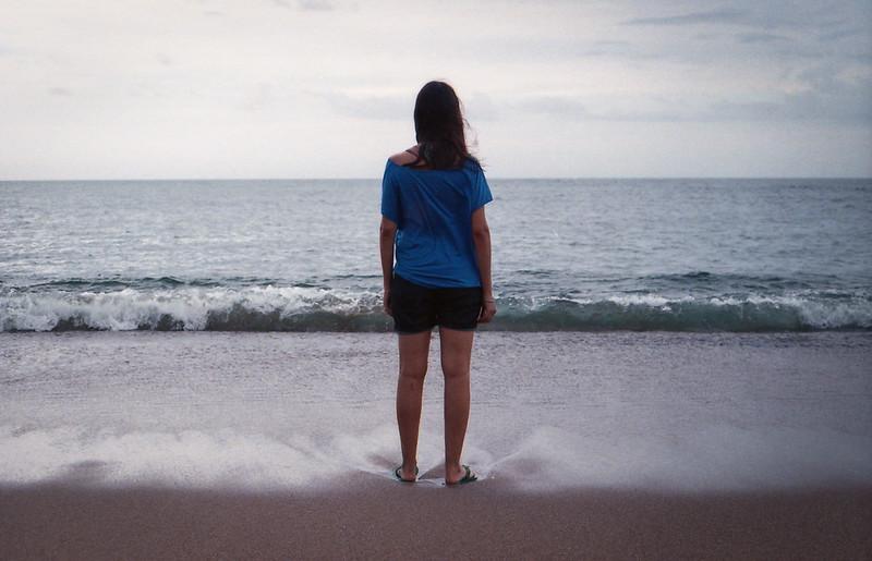 Belén, el mar y una día gris - La Paloma (UY)