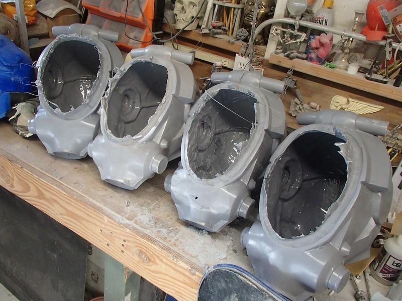 Helmets Ready to Finish