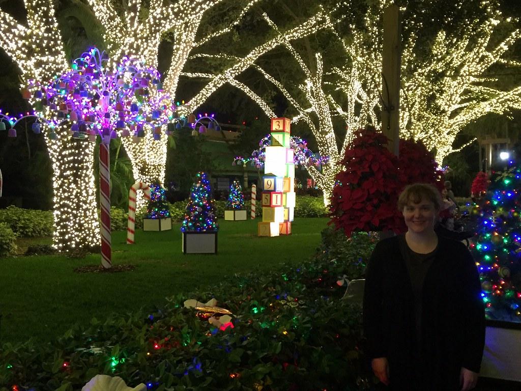 Busch Gardens Christmas Town Tampa.Tampa Busch Gardens Christmas Town Tree Lights Eri