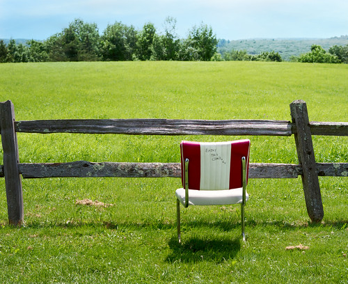 trappist empty seat chair fence green grass landscape spencer ma massachusetts newengland saint joseph abbey d500 chancyrendezvous davelawler blurgasm lawler