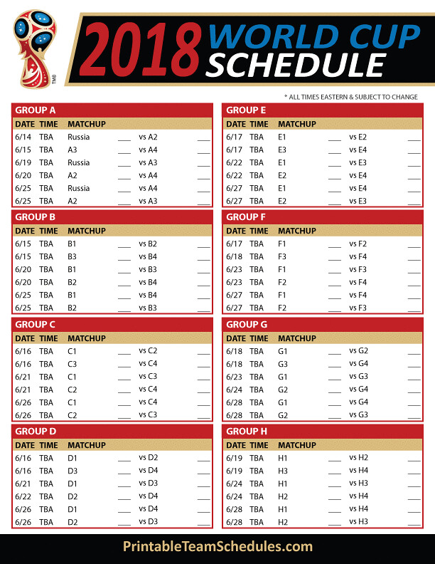 It is a graphic of World Cup Schedule Printable throughout ist