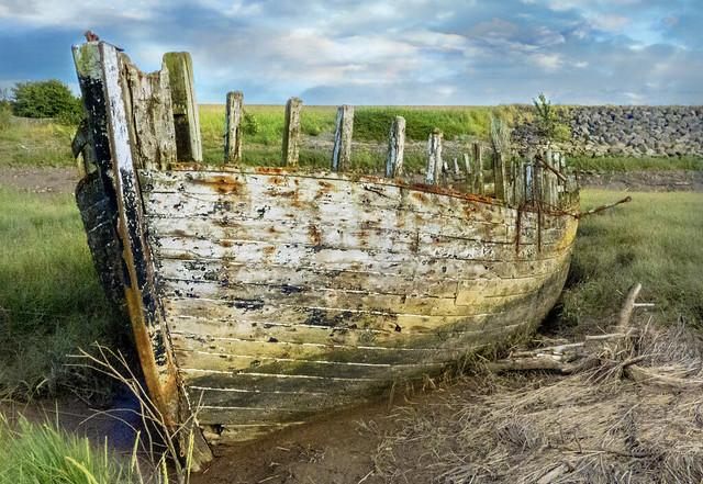 Saltend boat wreck.