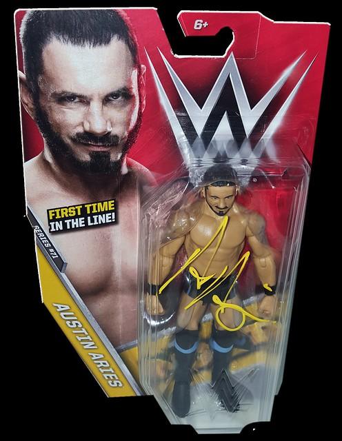 Austin Aries Autographed WWE Basic Mattel Series 71 Figure