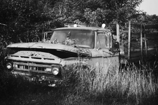 Black and white studies of an old truck.