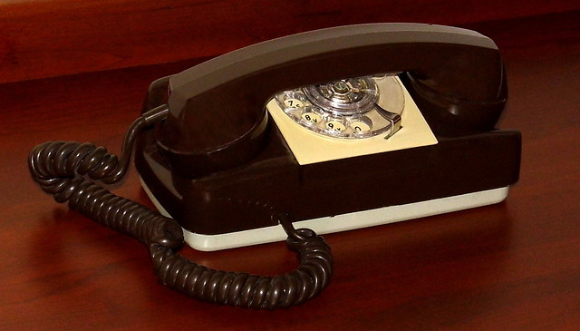 Vintage Automatic Electric Model 182 Starlite Rotary Dial Desk Telephone, Made In USA, Made From 1960 - 1986, This Telephone is Date Stamped 6-70