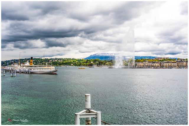Genève - Charged sky over the Lake Léman - Geneva - Switzerland -  D50_1371_2