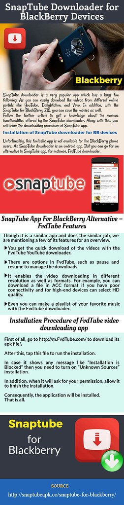 SnapTube Downloader for BlackBerry Devices | Visit Us: snapt