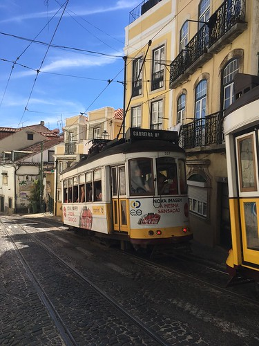Lisbon trains | by Anne Donovan