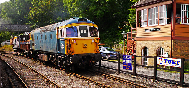 Maintanance Train at Highley Signal Box.