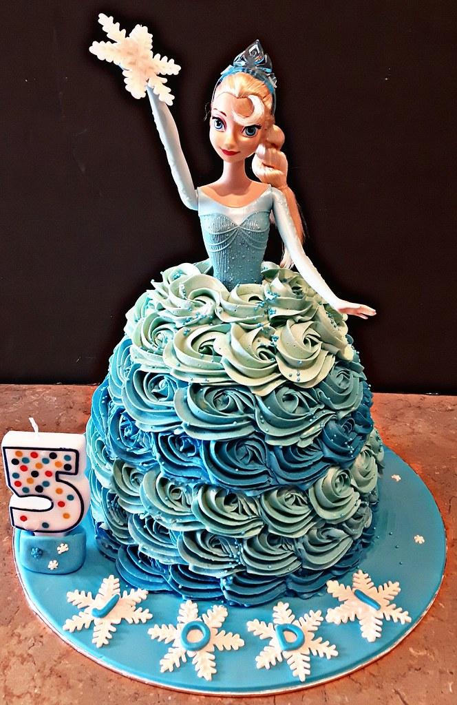 Fine Elsa Doll Theme Cake For Jodis 5Th Birthday Chocolate Ca Flickr Birthday Cards Printable Opercafe Filternl
