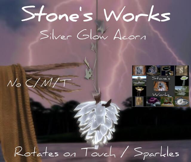 Silver Glow Acorn Hanging Lamp