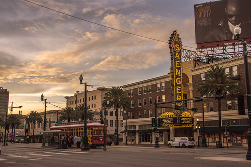 new orleans louisiana french quarter central business district saengers theater movie