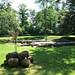 Klášterní zahrada se základy kostela sv. Kříže, foto: Petr Nejedlý