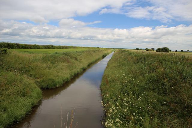 Drainage ditch on Sunk Island