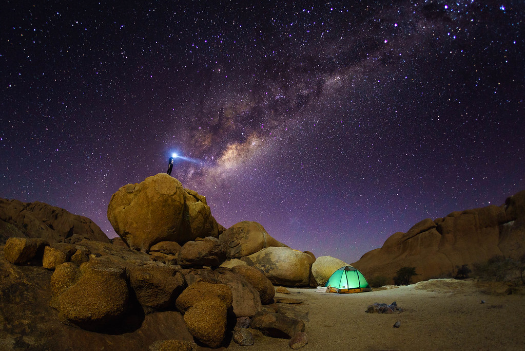 Night camping. | Starry night camping at Spitzkoppe ...