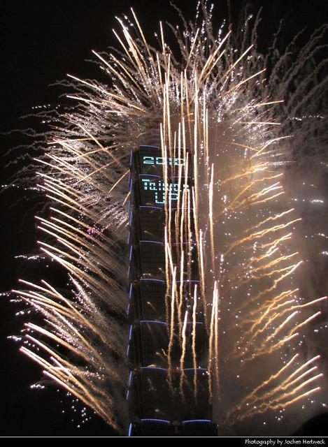 Taipei 101 New Year's Eve Fireworks, Taipei, Taiwan