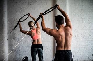 Reformer Pilates Photography - Couple Arm Exercise | by runwaypilates