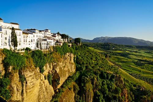 ronda andalucía spain es 2015 architecture landscape mountain plant rock sunset town tree village