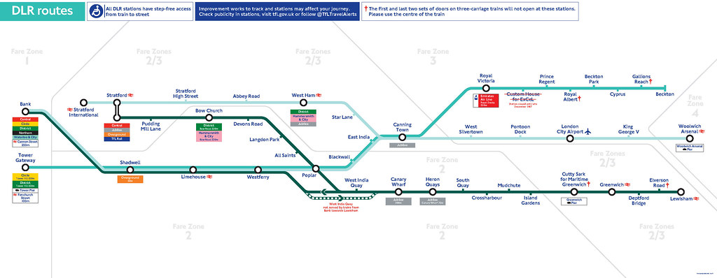 Transport For London Map.Dlr Line Map Transport For London Flickr
