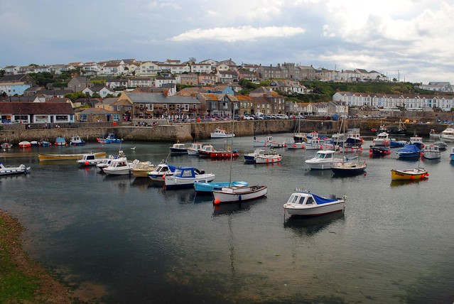 Porthleven Harbour from the B3304