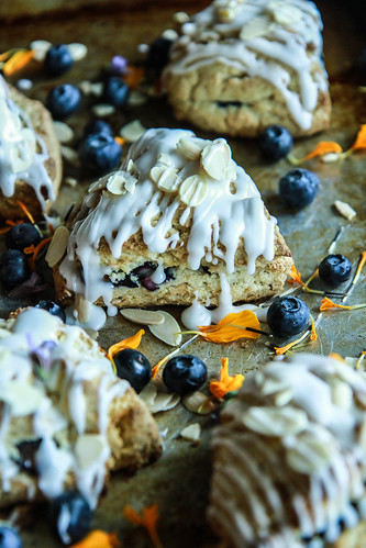 Blueberry Almond Coconut Scones from heatherChristo.com | by Heather Christo