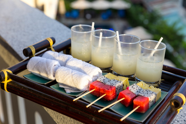 Welcome Drinks with Fruit Sticks