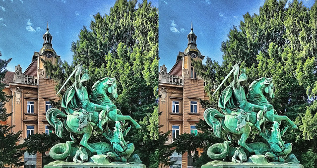 St. George and the dragon 3D