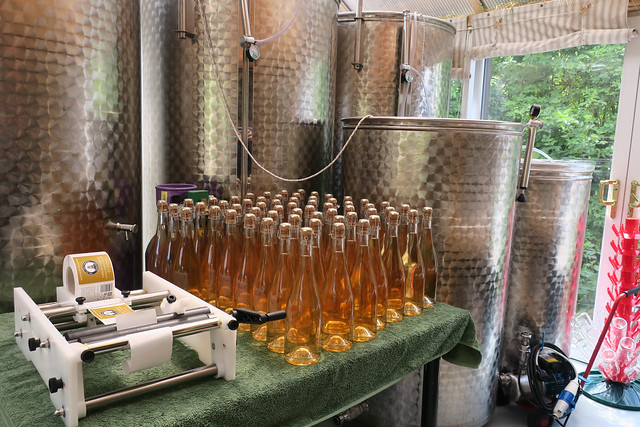Sparkling rosé at Fenny Castle Vineyard
