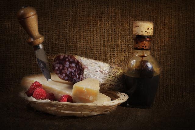 Italian food still-life