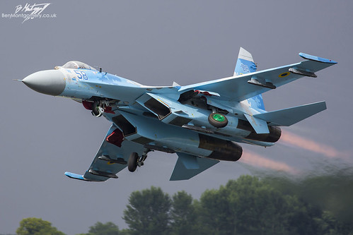 Sukhoi Su-27P Flanker 58 BLUE - Ukrainian Air Force - Royal International Air Tattoo 2017 | by BenSMontgomery