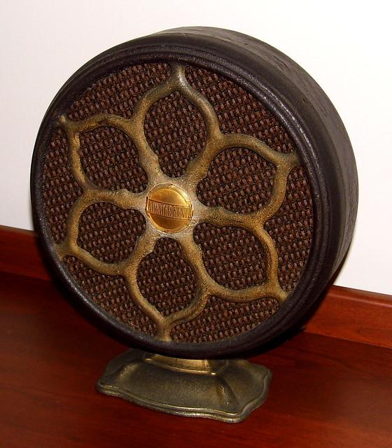 Vintage Atwater Kent Model E3 (9810) Speaker, Metal Base & Frame, Made In USA, Circa 1928
