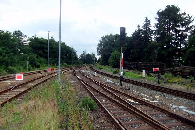 Bahnhof Zittau,Gleise Richtung Tschechien und ins Zittauer Gebirge am Hauptbahnhof Zittau,Grenzbahnhof